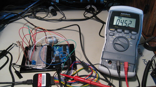 Digital Voltmeter: Programmed 100% PWM Duty Cycle