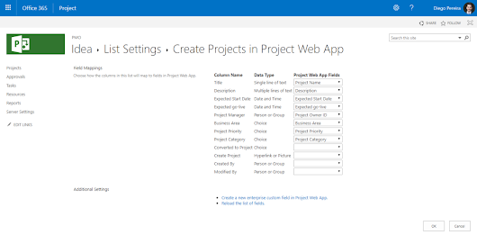 New option Project Server Settings – SharePoint Lists