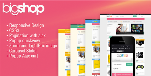 Download Nulled Responsive HTML Theme - HTML BigShop For Free