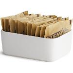 """Tablecraft P56 4 x 2-1/4 x 1-1/2"""" White Porcelain Sugar Packet Holder"""