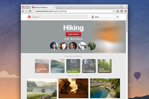Pinterest Simplifies Discovery, Adds Categories