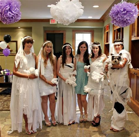toilet paper dress game   bridal shower ideas   Pinterest