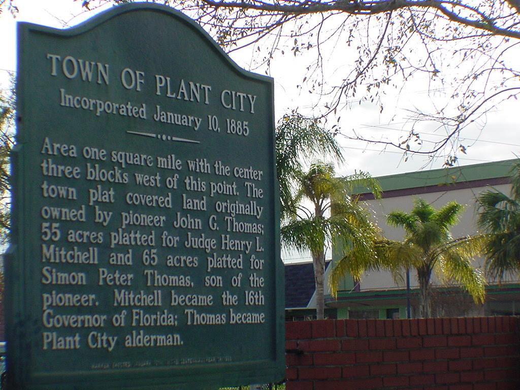 Plant City, FL : Sign outside Plant City's railroad ...