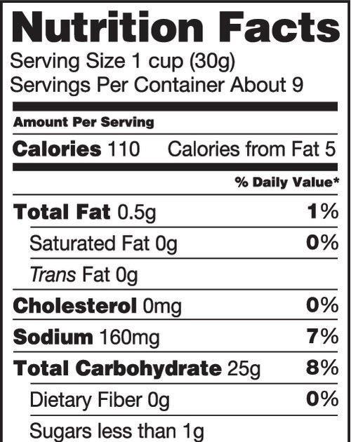 Rice Krispies Nutrition Facts Label - Pensandpieces