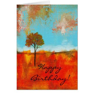 Rapture Happy Birthday Card From Original Painting