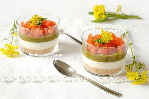 Cheesecake alla  Stracciatella, Cime di Rapa e Pomodori-Stracciatella Cheese, Turnip Tops  and Tomato Cheesecake