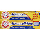 Arm & Hammer Advance White Baking Soda & Peroxide Toothpaste, Fresh Mint - 2 pack, 6 oz tubes