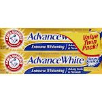 Arm & Hammer Advance White Baking Soda & Peroxide Toothpaste, Fresh Mint - 2 pack, 6 oz tubes