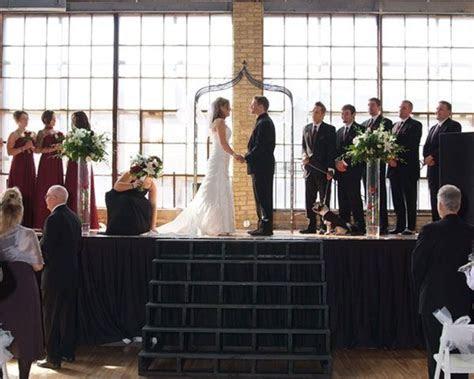 Hot Water Warehouse Wedding Ceremony   Milwaukee Wedding