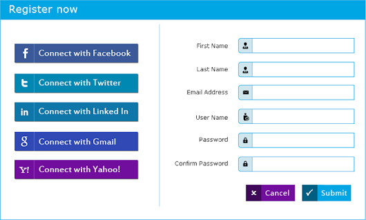 PHP Login/Registration System with Facebook, Twitter, Google