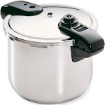 Presto Pro Stainless Steel Pressure Cooker, Silver, 8 qt
