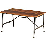 Ocala Acacia Industrial Coffee Table - Antique/Black - Christopher Knight Home