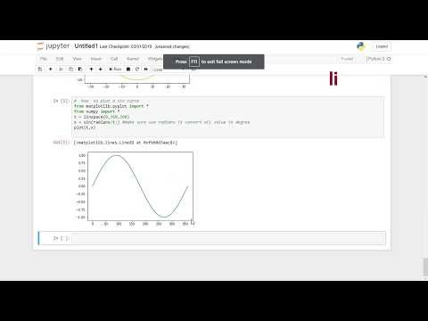 How to plot a Sin Graph in Python