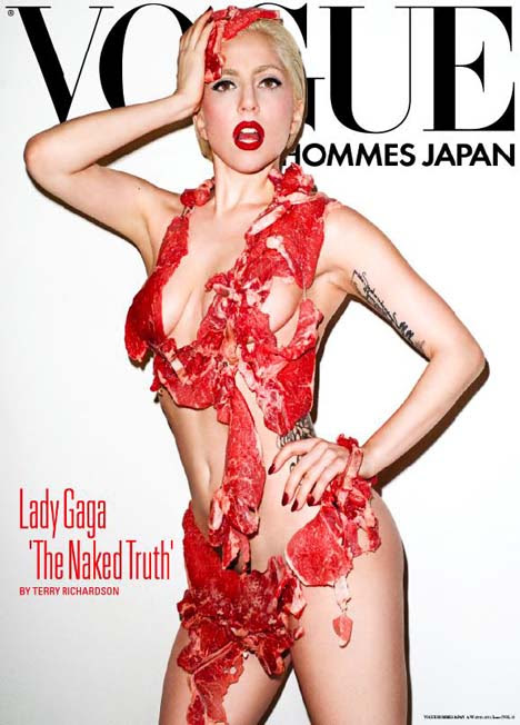 Lady Gaga Pinup Poster in Vogue Hommes Japan