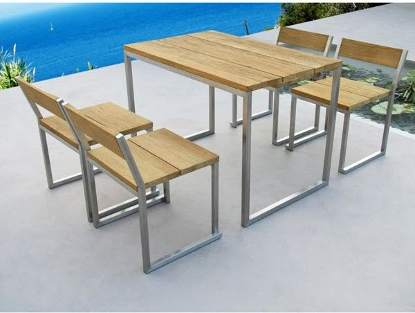 Recycled Teak Outdoor Dining Table and Chairs - - outdoor tables ...
