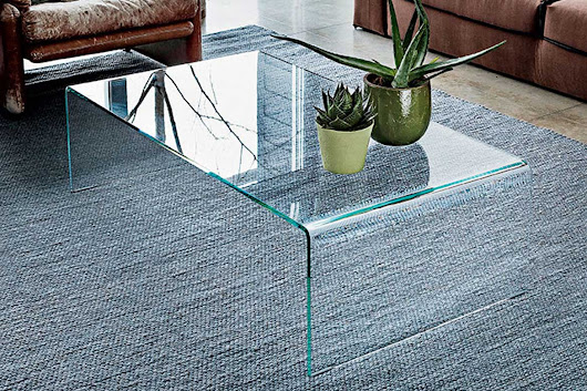 Bridge Curved Glass Coffee Table - Klarity