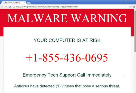 "Cerber Antivirus Gives ""Your Computer Is At Risk"" Warning, How to Remove Cerber Antivirus"