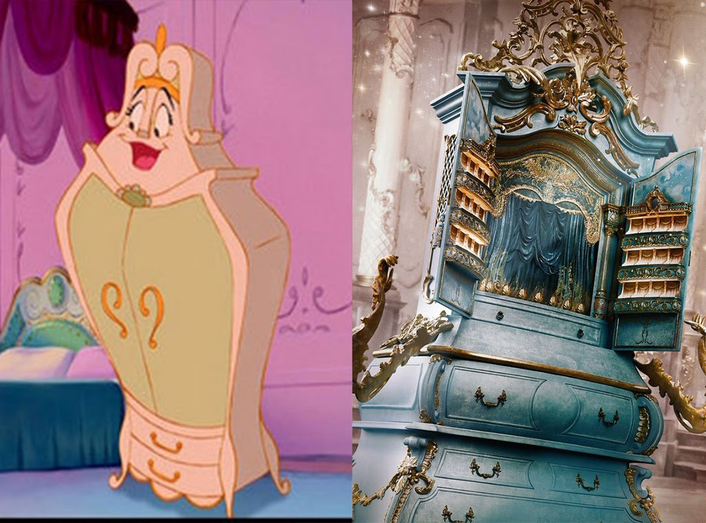 Madame de Garderobe, Beauty and the Beast, Animated Disney vs. Live Action Disney