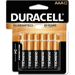 Duracell Coppertop Alkaline AAA Household Batteries, 12 pack