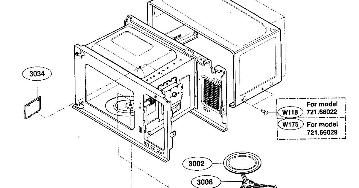 Wiring Diagram: 30 Kenmore Microwave Parts Diagram