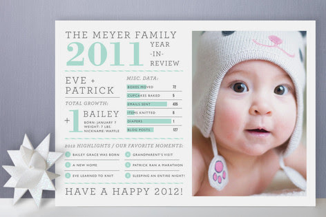 Year In Review Holiday Photo Cards By Cambria Minted