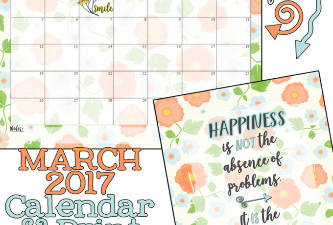 March 2017 Calendar Inkhappi – 2017 March Calendar