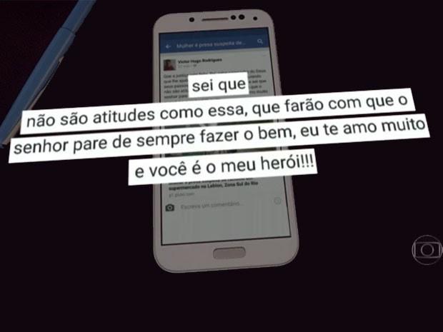 Filho desabafa sobre injúria racial sofrida pelo pai (Foto: Reprodução TV Globo)