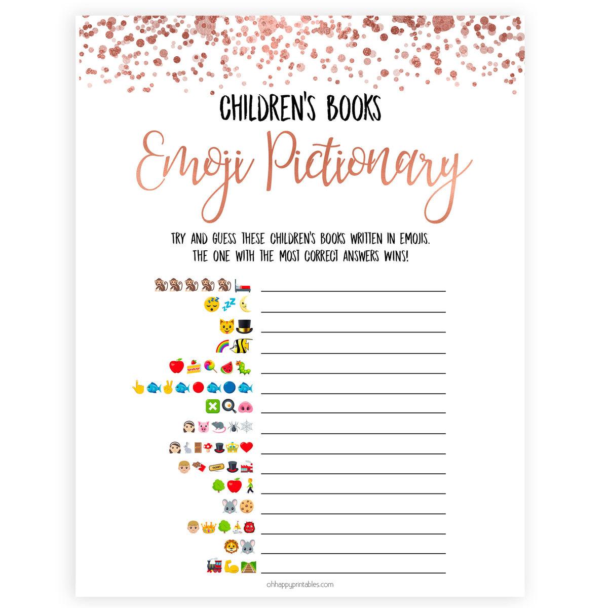 Children S Books Emoji Pictionary Rose Gold
