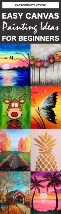 Best Canvas Painting Collection Beginner Easy Step By