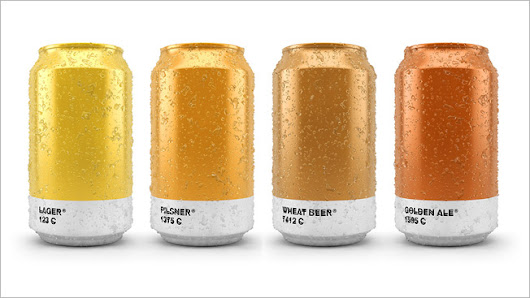 Awesome Beer Cans Show the Pantone Color of the Brew That's Inside