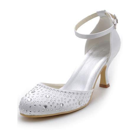 Cream Women's Wedding Shoes Office & Career Sandals Low
