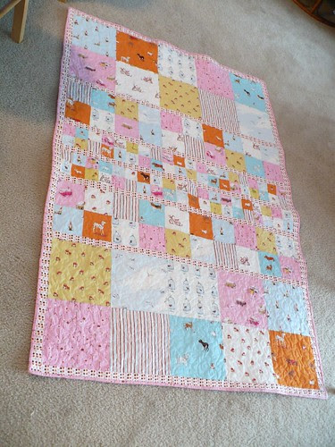 Completed Heather Ross Quilt