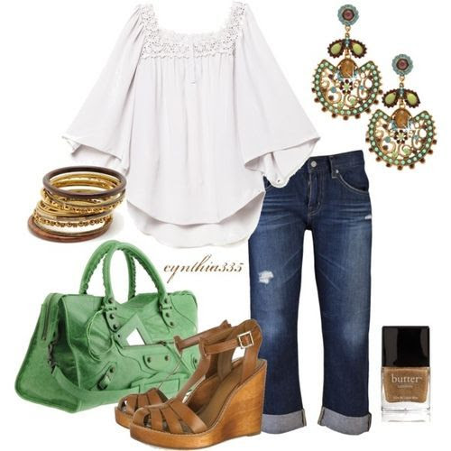 Mint and Dark Tan (girls,dress,girl,fashion,style,clothes,polyvore,our picks)
