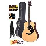 Yamaha FG700S Folk Acoustic Guitar Bundle with Hard Case, Instructional DVD, Picks, Strap, Strings, Pick Card,...