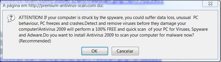Antivirus 2009 - tela1