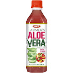 OKF AVF360 16.9 oz Farmers Aloe Drink Fruit Punch - Pack of 20