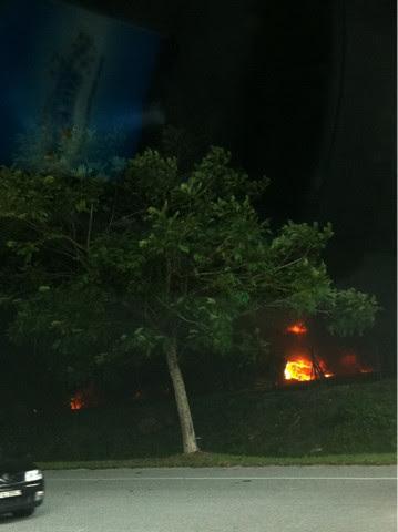 Kilang di Menglembu Terbakar
