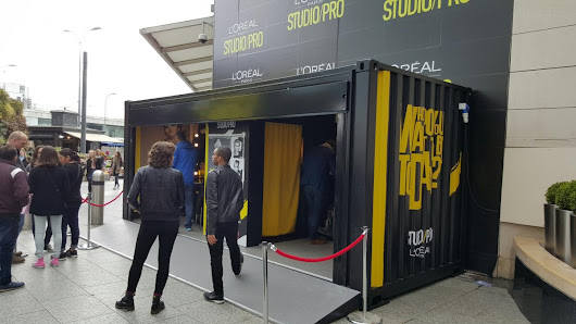 L'Oréal Shipping Container Styling Station Launches Range | The Events Structure