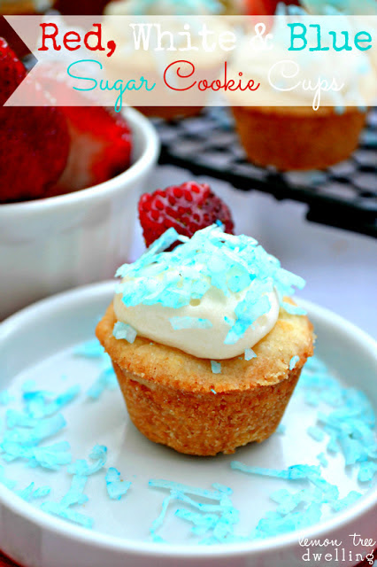 Red,White & Blue Sugar Cookie Cups 1