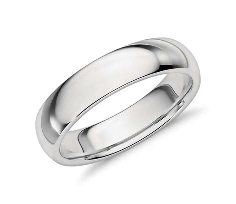 Comfort Fit Wedding Ring in Platinum (5mm)   Blue Nile