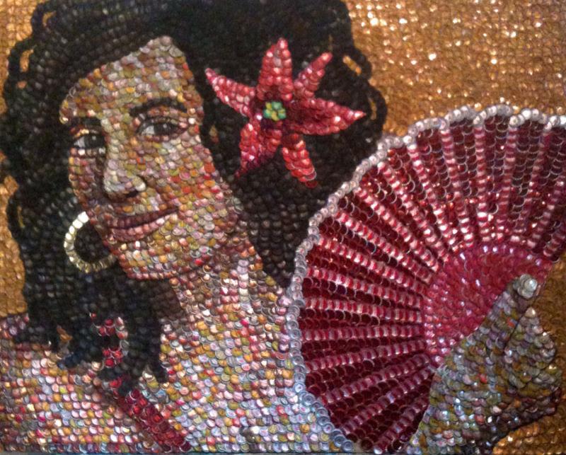 Intrincados retratos feitos com tampinhas de garrafa 09