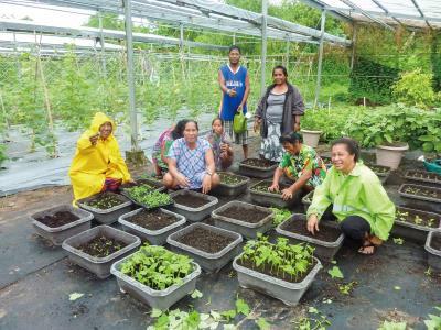未來許慧玲希望將技術團設有的「蘿拉農場」打造成綠色農場,將節能、減碳等綠能觀念帶給當地民眾。(國合會提供)