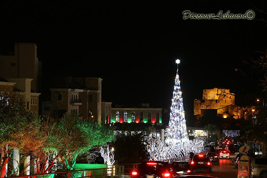 Discover Lebanon Image Gallery / Lebanon by night / Christmas decoration Byblos