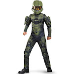 Disguise Halo Master Chief Classic Costume, Green, Medium
