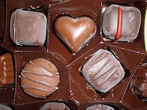 An assortment of Belgian chocolates