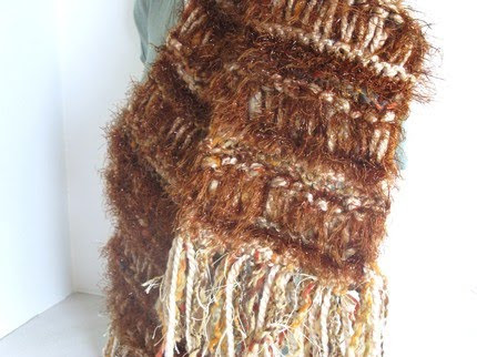 photo of brown scarf