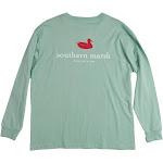 Southern Marsh Authentic Long Sleeve T-Shirt | Seafoam | Medium