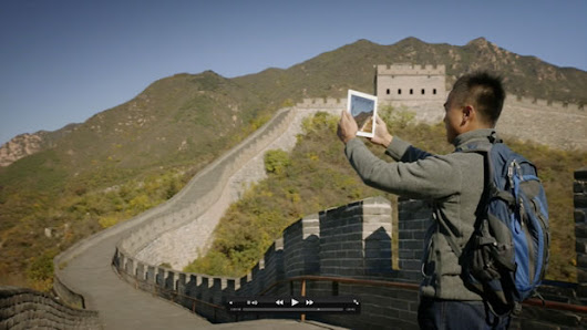 Theodolite goes to the Great Wall of China