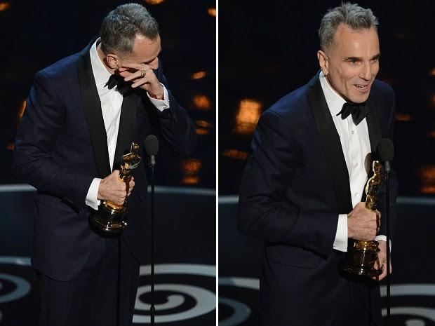 Daniel Day-Lewis vence Oscar de Melhor Ator por 'Lincoln' (Foto: AFP PHOTO/Robyn Beck)