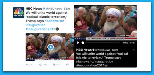 NBC Uses Pic Of Sikh Man To Represent 'Radical Islam' In Trump's Inauguration Speech - BB4SP